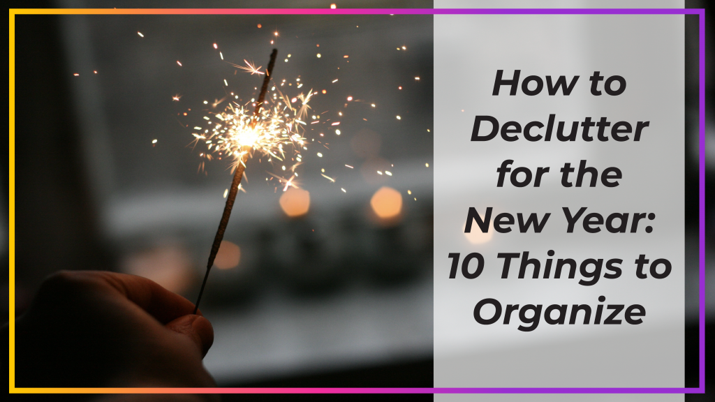 how to declutter for the new year