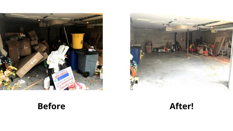junk removal before and after