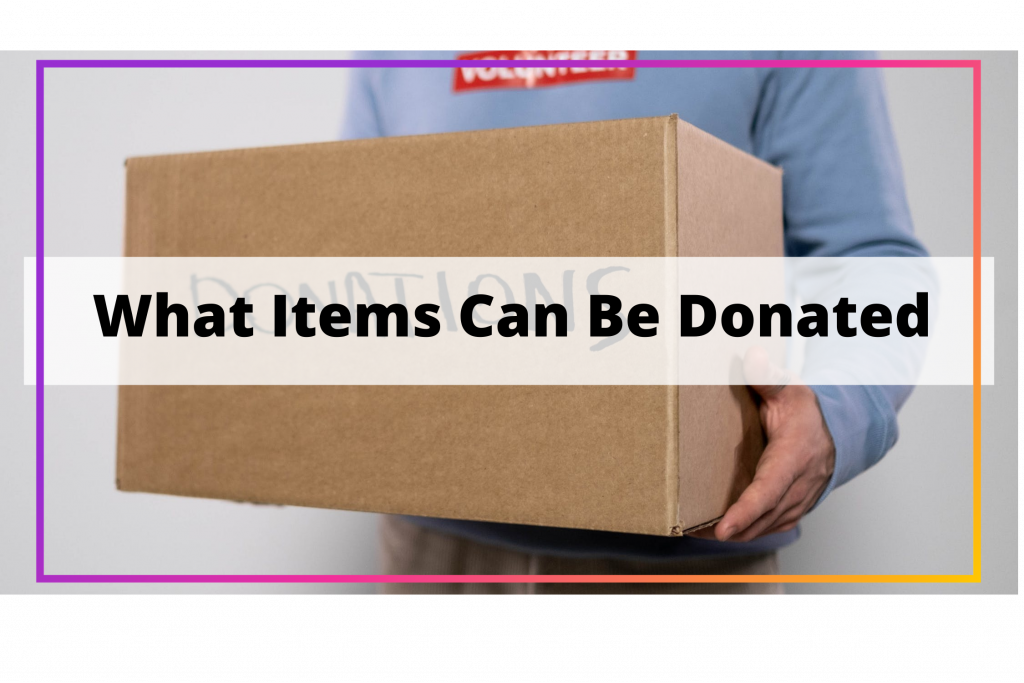 what items can be donated